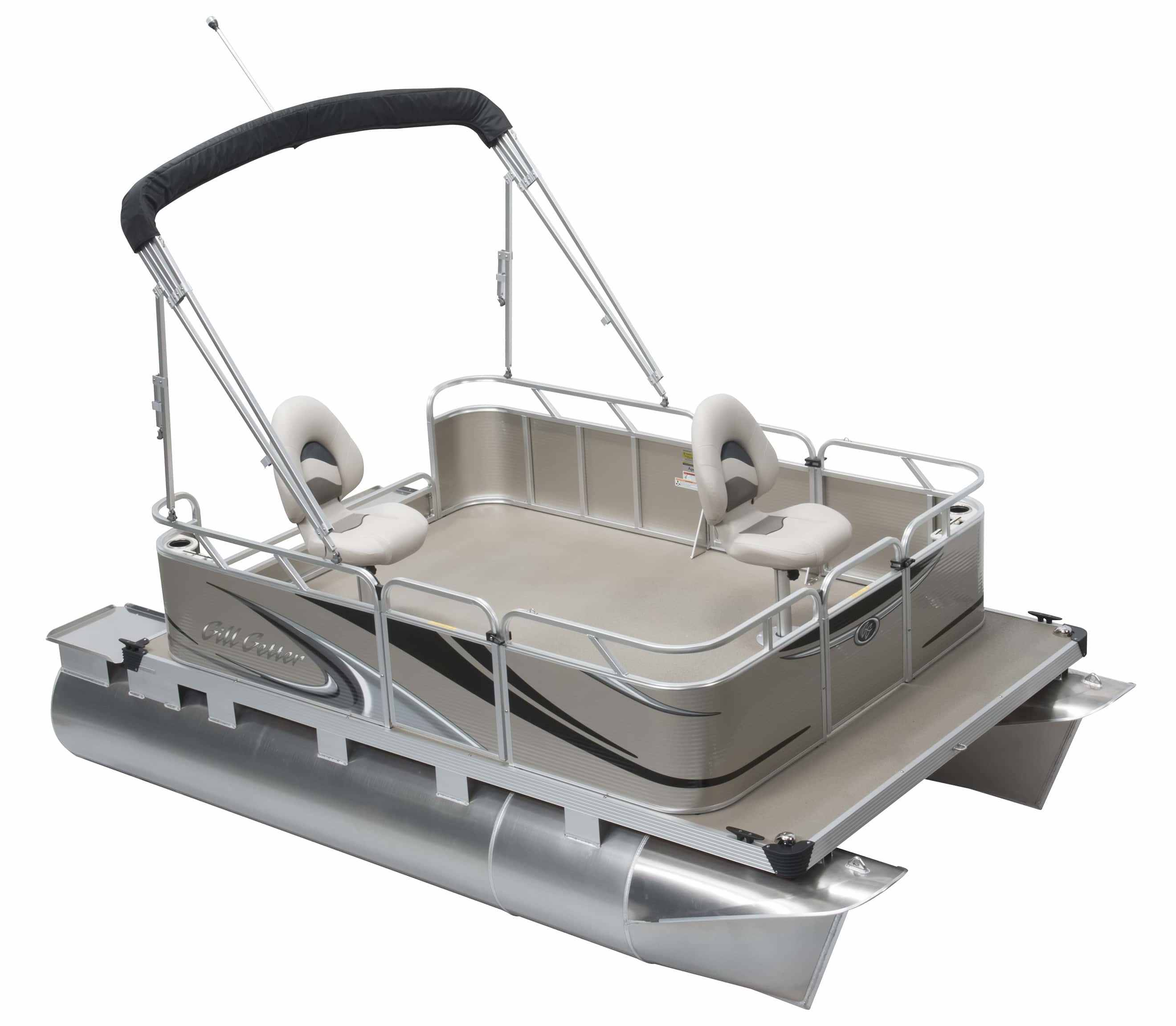 Compact pontoon boats columbia marine connecticut for How much does a fishing boat cost
